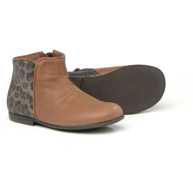 Ankle Boots With Side Zip, Brown
