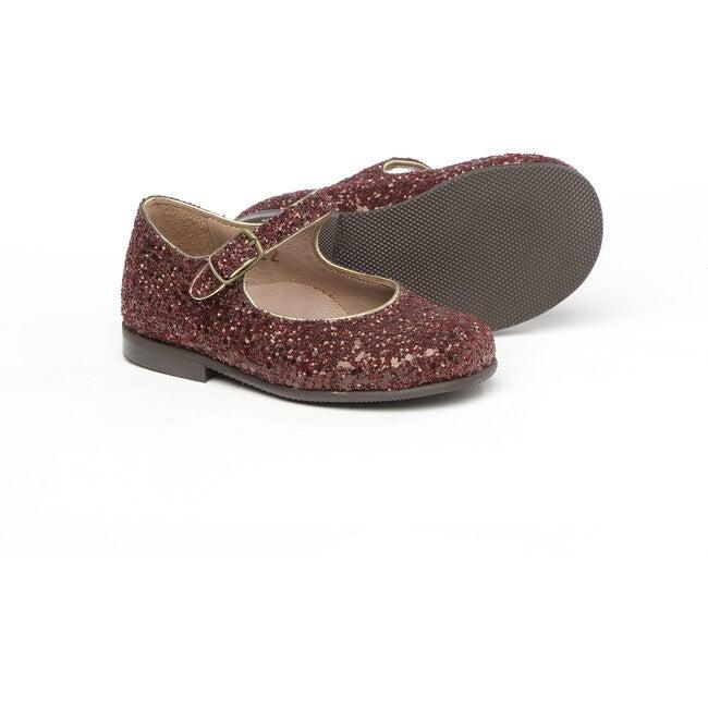 Ankle Strap Mary Jane, Glitter Burgundy