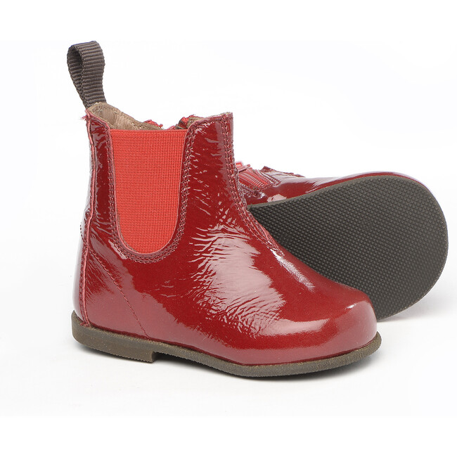 Ankle Boots In Patent Leather, Red