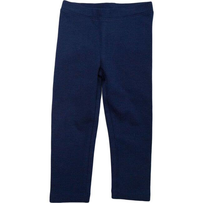 Cotton Leggings, Navy