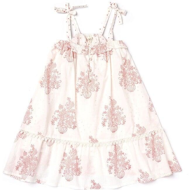 Jaipur Dress, Flower Pot Block Print - Dresses - 1