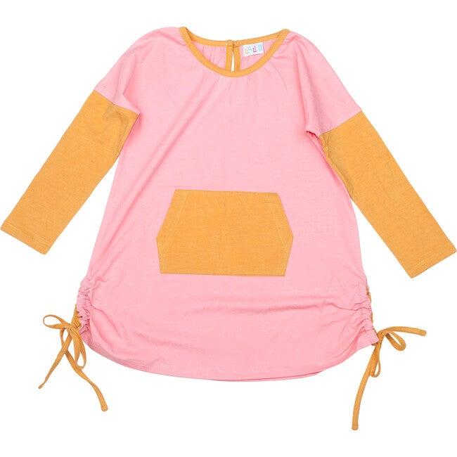Organic Cotton Kangaroo Tunic , Pink
