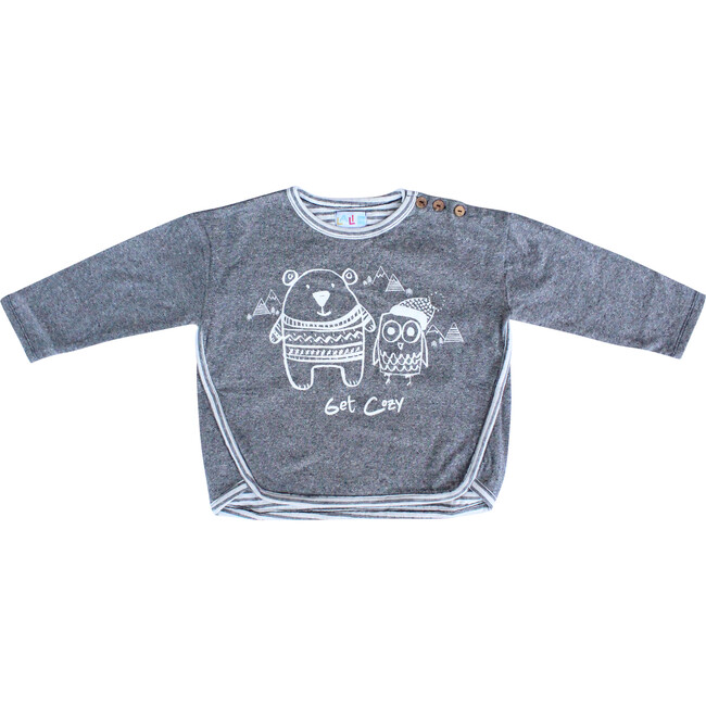 Get Cozy Pullover, Charcoal - Sweaters - 1