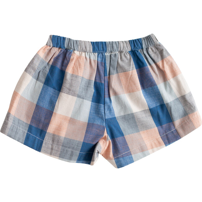 Blue Chex Begonia Shorts