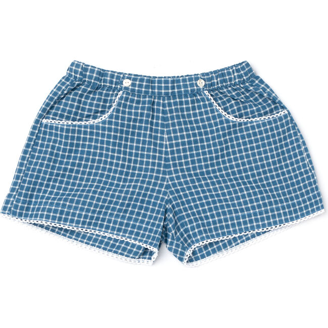 Begonia Shorts, Blue Chex