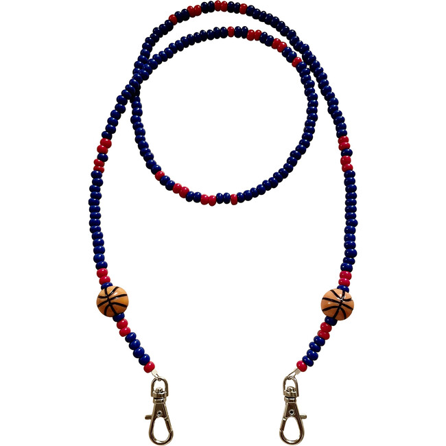 Blue & Red Basketball Mask Chain
