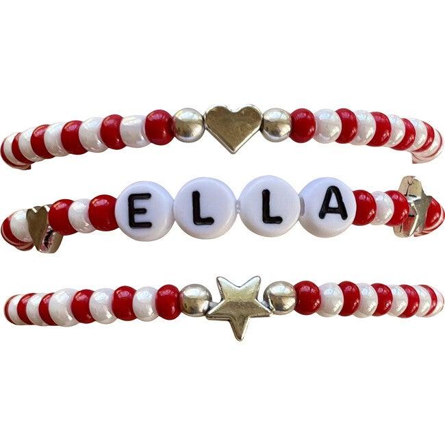 Red & White Bracelet Set