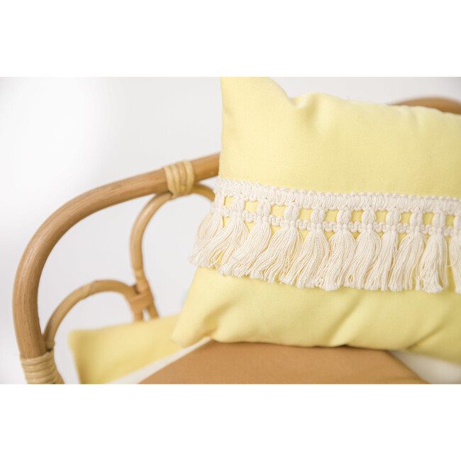 3-in-1 Rattan Doll Daybed Set, Yellow