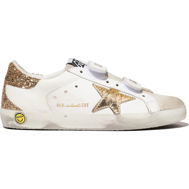 Old School Classic Sneakers With Spur, White
