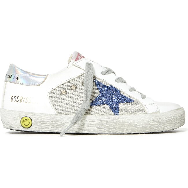 Superstar Leather Star Trainers Silver, White