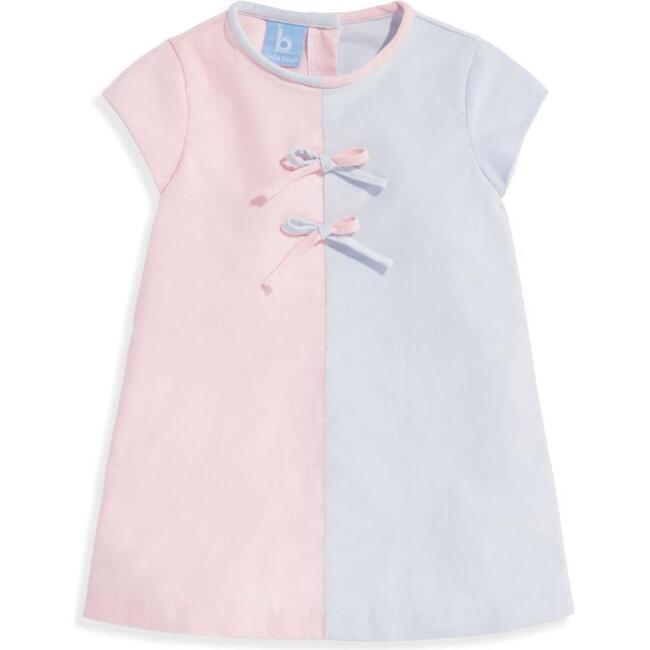 Colorblock Dress, Blush and Cloud