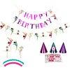 Gymnastics Birthday Party Decoration Kit - Decorations - 1 - thumbnail