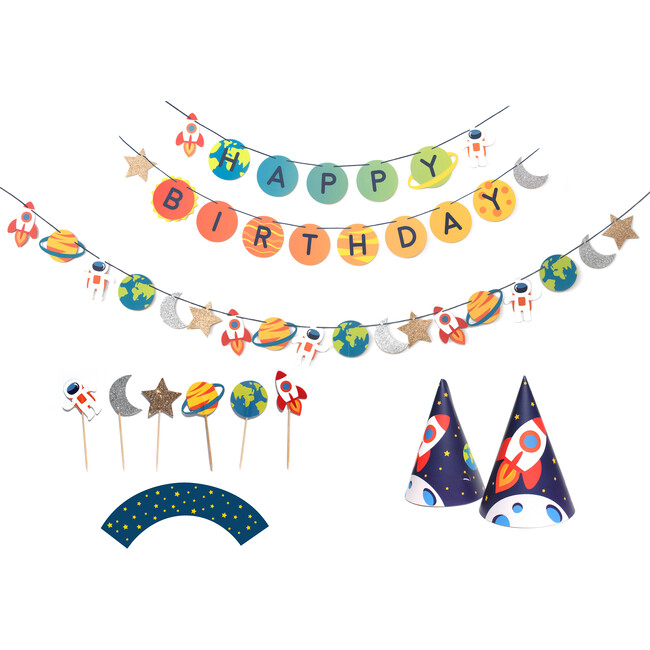 Trip To The Moon Birthday Party Decoration Kit - Decorations - 1