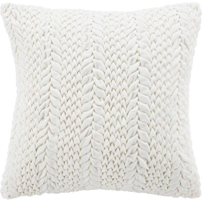 """Barlett Pillow, Cream - 20"""" x 20"""""""