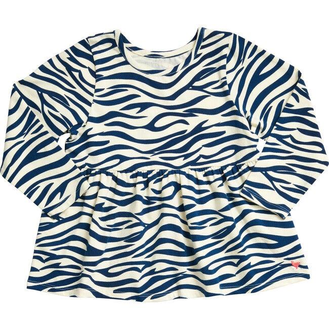 Organic Bette Top, Blue Zebra
