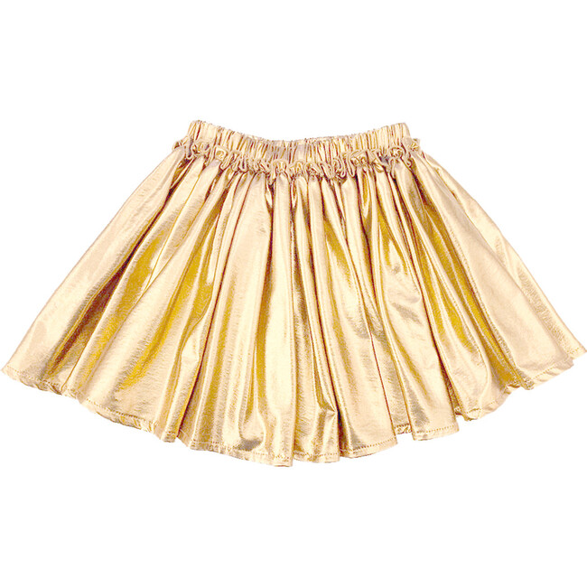 Gianna Skirt, Metallic Gold