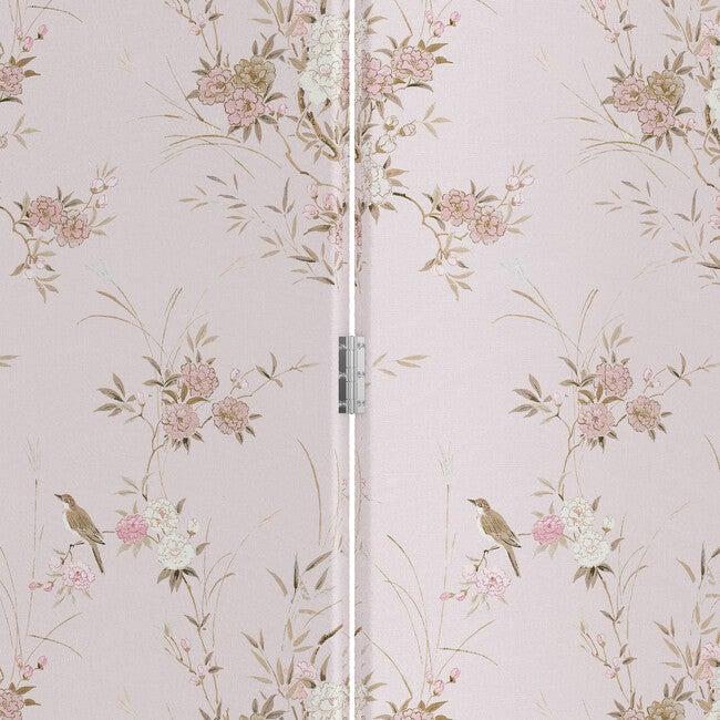 Lisbon Screen, Bird Chinoiserie Pink