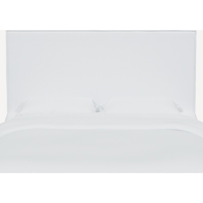 Lorel Slipcover Headboard, Twill White