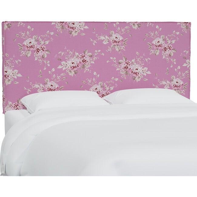 Lorel Slipcover Headboard, Berry Bloom Hot Pink