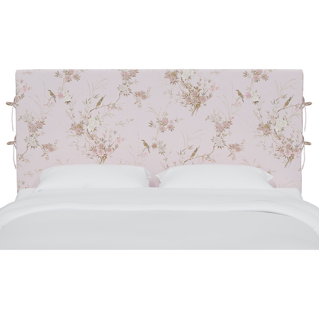 Bernard Slipcover Headboard, Bird Chinoiserie Pink