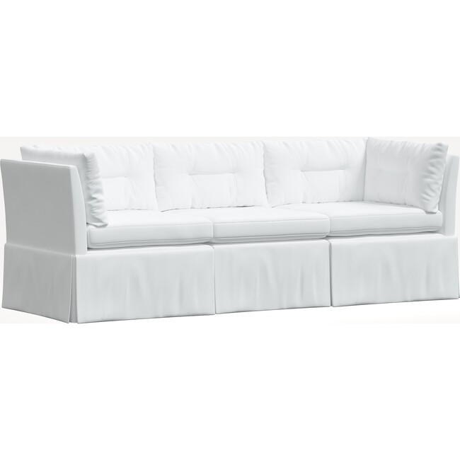 Octavia 3 Piece Sectional, Twill White