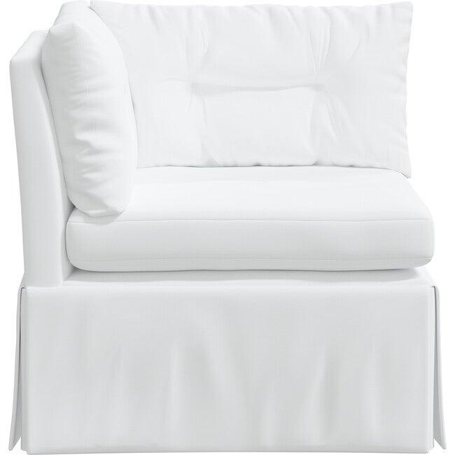 Octavia Corner Chair, Twill White