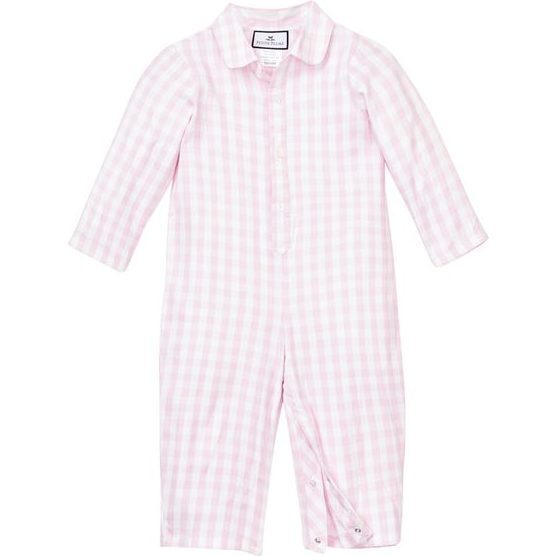 Pink Gingham Romper - Pajamas - 1