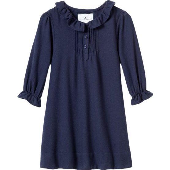 Navy Victoria Nightgown