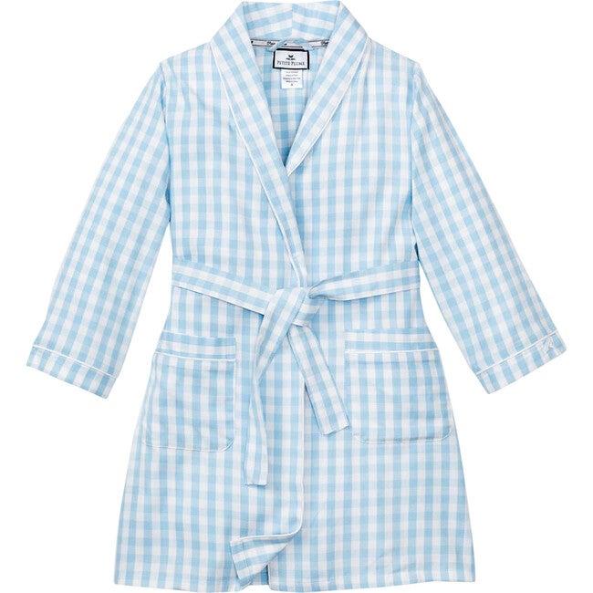 Light Blue Gingham Robe