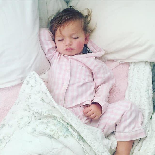 Pink Gingham Pajamas