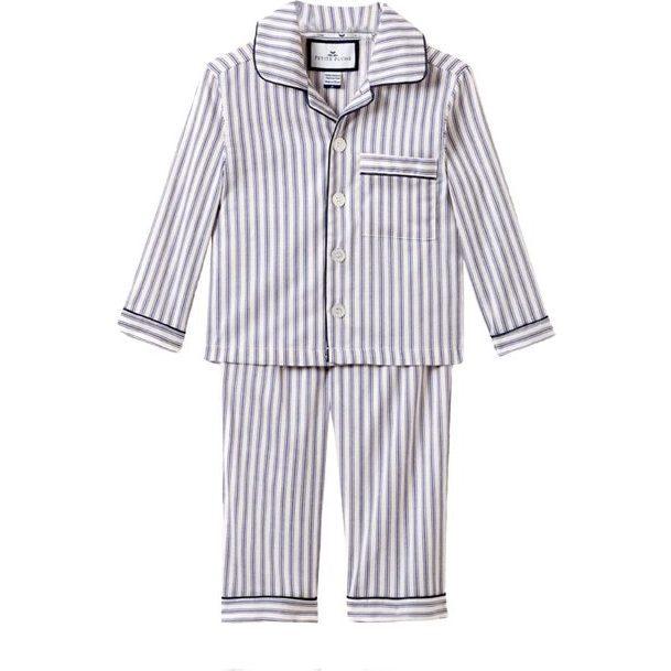 Navy French Ticking Pajamas