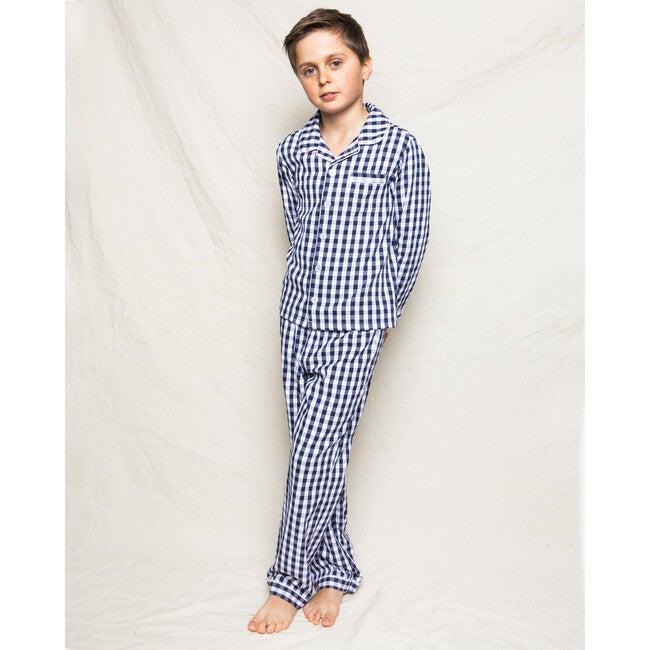 Navy Gingham Pajamas