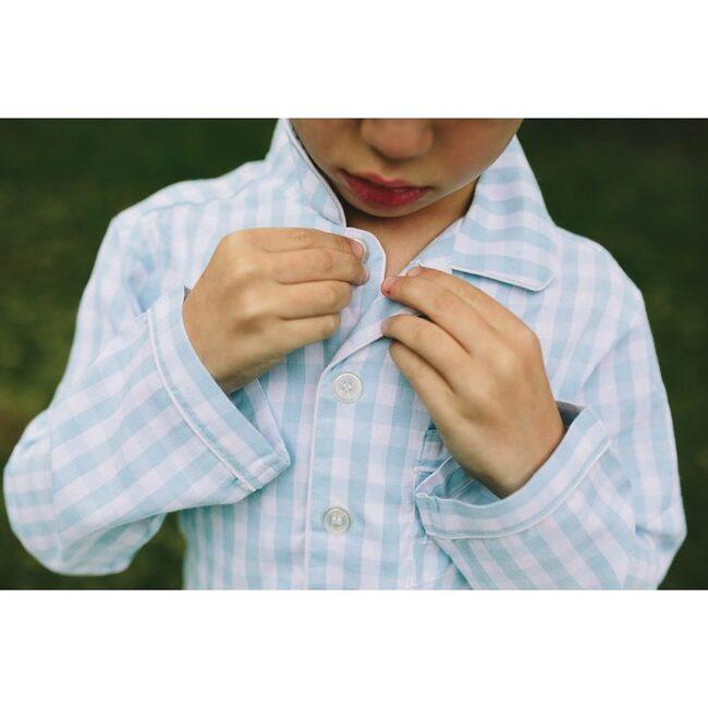 Light Blue Gingham Pajamas