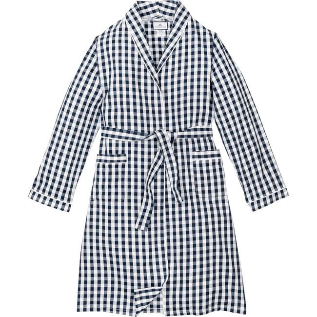 Navy Gingham Robe