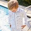 Pajama Set, Whales - Pajamas - 2