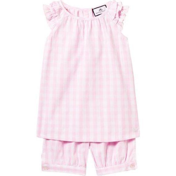 Margaux Short Set, Pink Gingham - Pajamas - 1