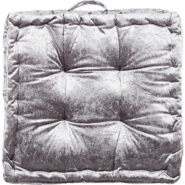 Peony Floor Pillow, Grey
