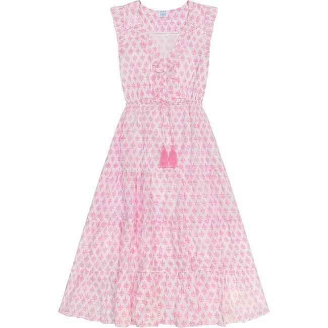 Giselle Women's Maxi Dress, Pink Block