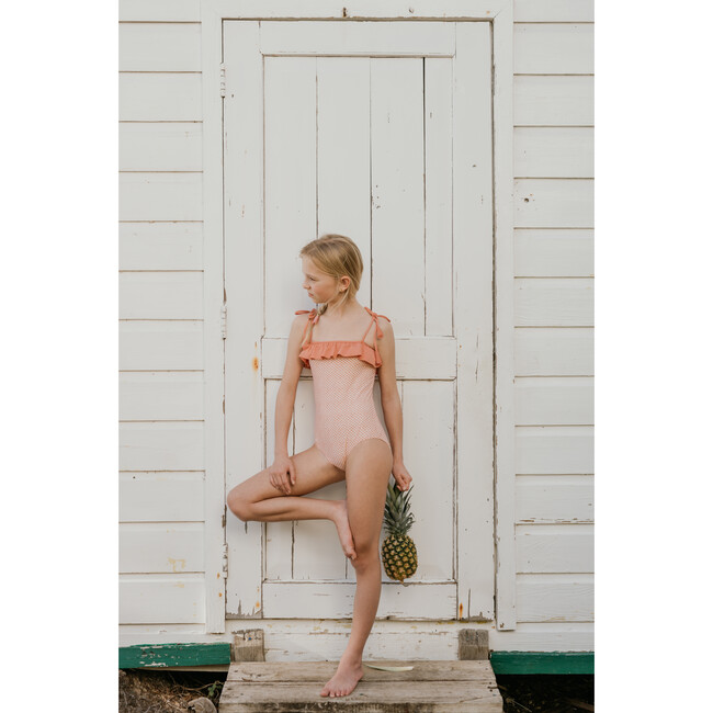 Lily Swimsuit, Scale Pink Print