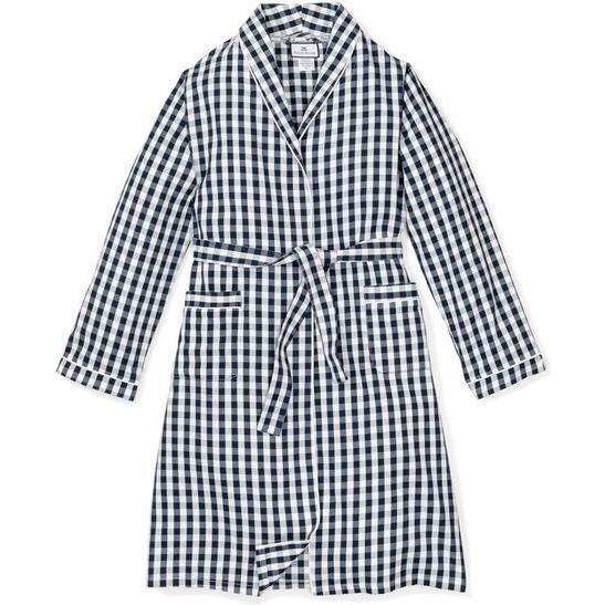 Men's Robe, Navy Gingham