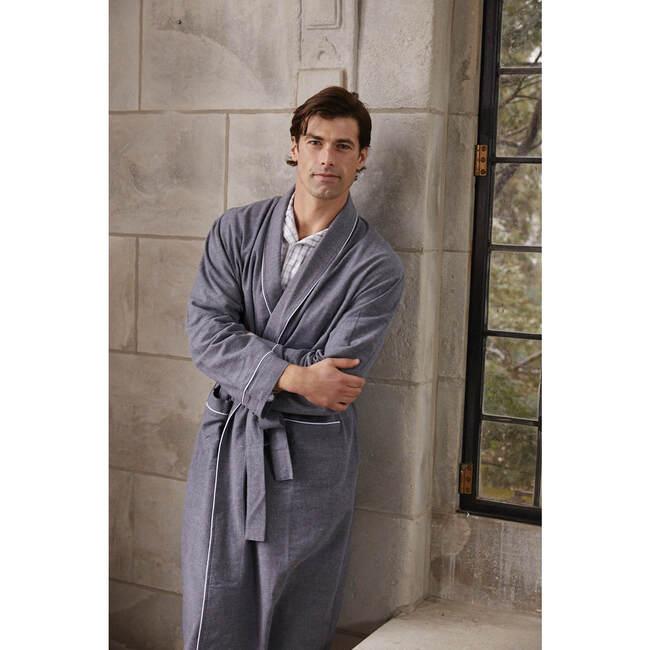 Men's Robe, Heather Grey Flannel