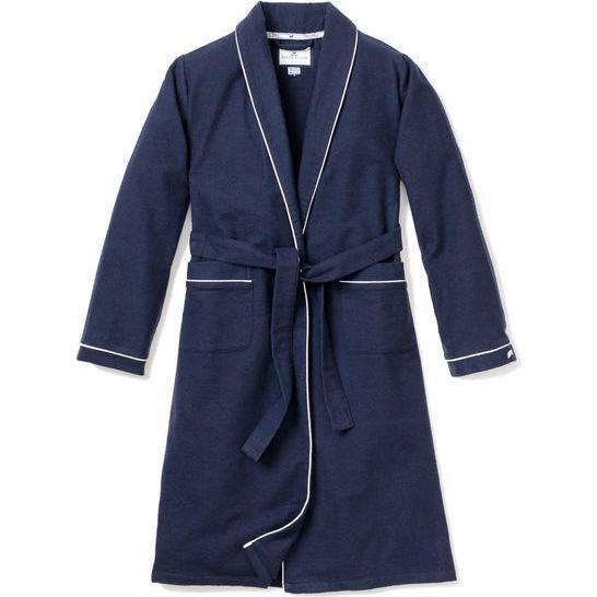 Men's Flannel Robe, Navy