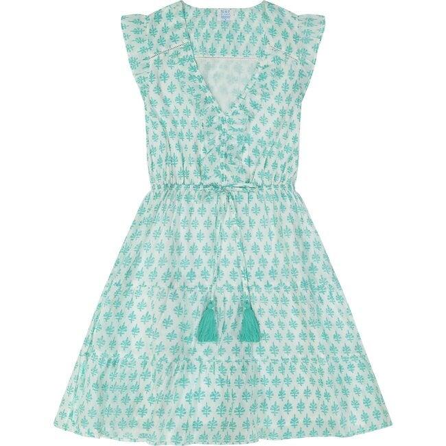 Giselle Women's Mini Dress, Aqua Block