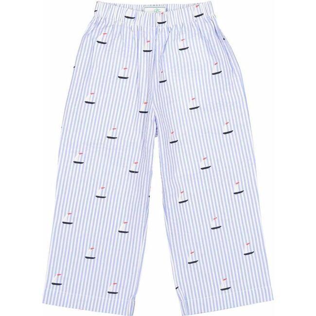 Myles Slim Pant, Sailboats on Blue Seersucker