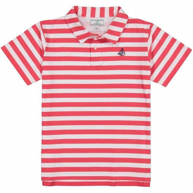 Henry Short Sleeve Polo, Lollipop Red Stripe