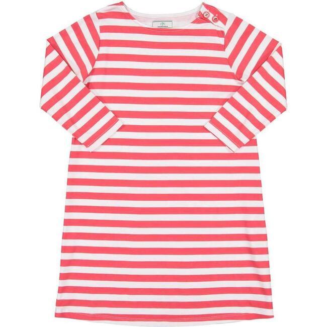 Franca 3/4 Sleeve Dress, Lollipop Red Stripe