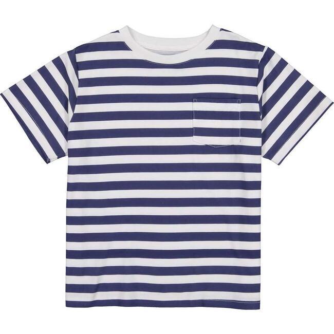 Pocket Tee Short Sleeve, Medieval Blue Stripe