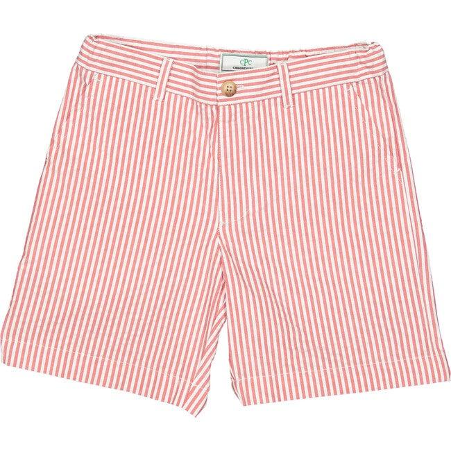 Hudson Seersucker Shorts, Red/White - Shorts - 1