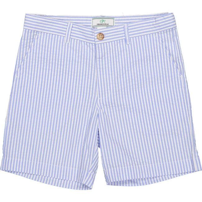 Hudson Seersucker Shorts, Blue/White