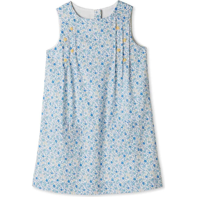 Piper Pintuck Dress, Bluebell Floral